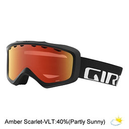 Giro Grade Youth Goggles 2018, Black Wordmark-Amber Scarlet, 256