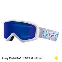 Giro Grade Youth Goggles, White Palm-Grey Cobalt, 256
