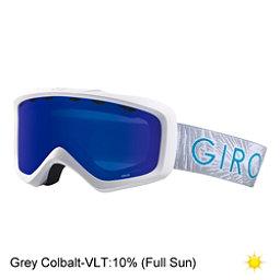 Giro Grade Youth Goggles 2018, White Palm-Grey Cobalt, 256