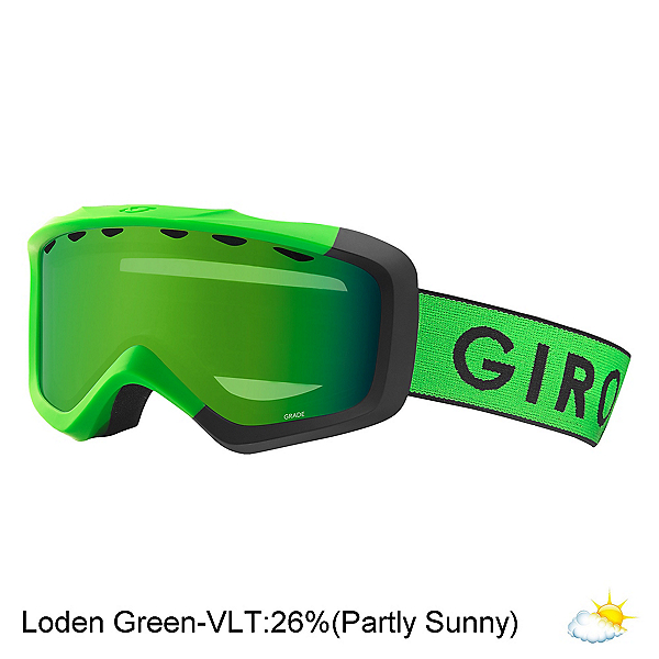 Giro Grade Youth Goggles 2020, Bright Gn Black Zoom-Loden Gre, 600
