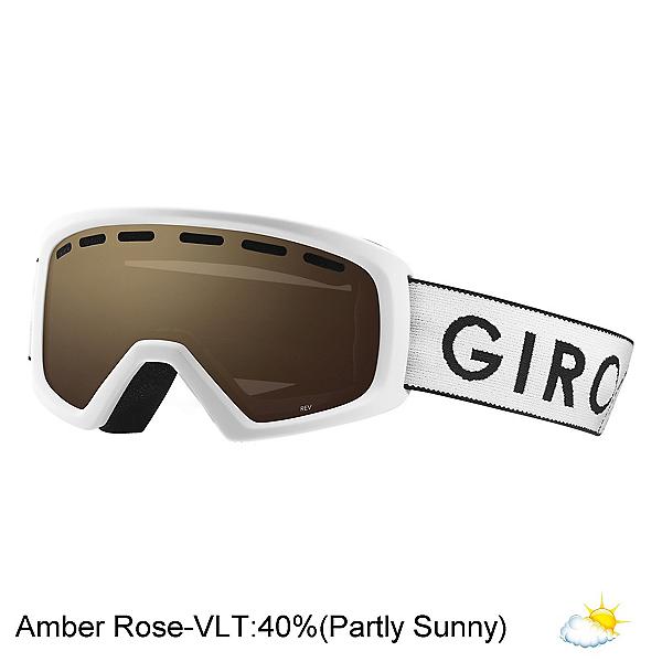 Giro Rev Kids Goggles 2020, White Zoom-Amber Rose, 600