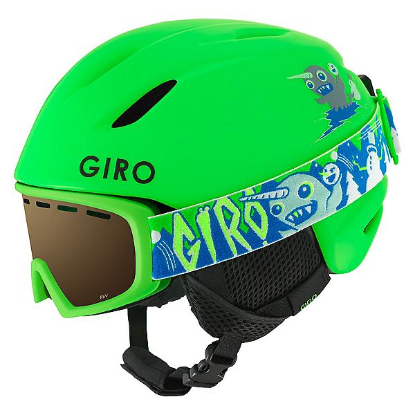 Giro Launch Combo Pack Kids Helmet, Matte Bright Green, 600