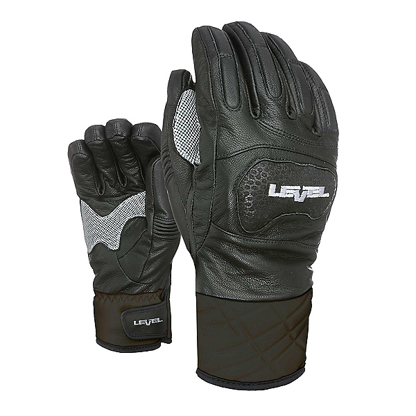 Level Race Ski Racing Gloves, Black, 600