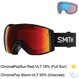 Smith I/O Goggles 2018, Black-Chromapop Sun Red Mirror + Bonus Lens, 256