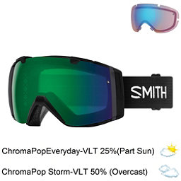 Smith I/O Goggles 2018, Black-Chromapop Everyday Green + Bonus Lens, 256