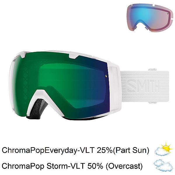 Smith I/O Goggles, Whiteout-Chromapop Everyday Gr + Bonus Lens, 600