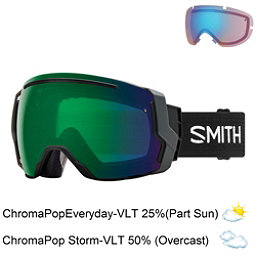 Smith I/O 7 Goggles 2018, Black-Chromapop Everyday Green + Bonus Lens, 256