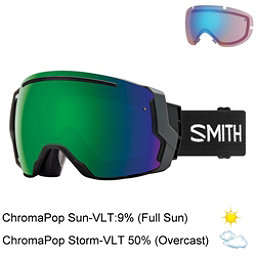 Smith I/O 7 Goggles 2018, Black-Chromapop Sun Green Mirr + Bonus Lens, 256
