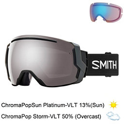Smith I/O 7 Goggles 2018, Black-Chromapop Sun Platinum M + Bonus Lens, 256