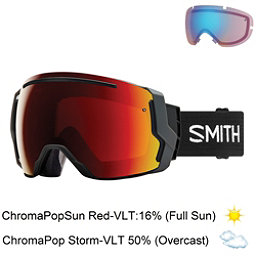 Smith I/O 7 Goggles 2018, Black-Chromapop Sun Red Mirror + Bonus Lens, 256
