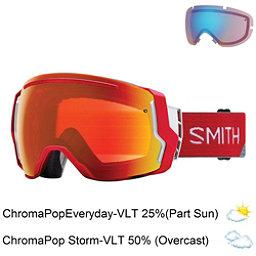 Smith I/O 7 Goggles 2018, Fire Split-Chromapop Everyday + Bonus Lens, 256