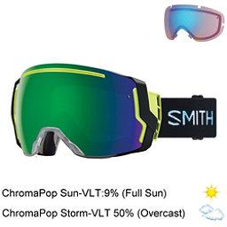 Smith I/O 7 Goggles 2018, Squall-Chromapop Sun Green Mir + Bonus Lens, 256