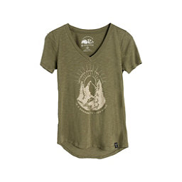 United By Blue Two Pines Short Sleeve Womens Shirt, Olive, 256