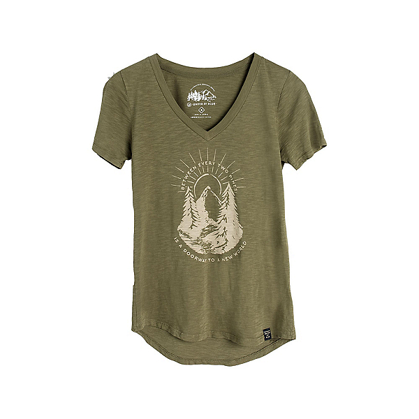 United By Blue Two Pines Short Sleeve Womens Shirt, Olive, 600