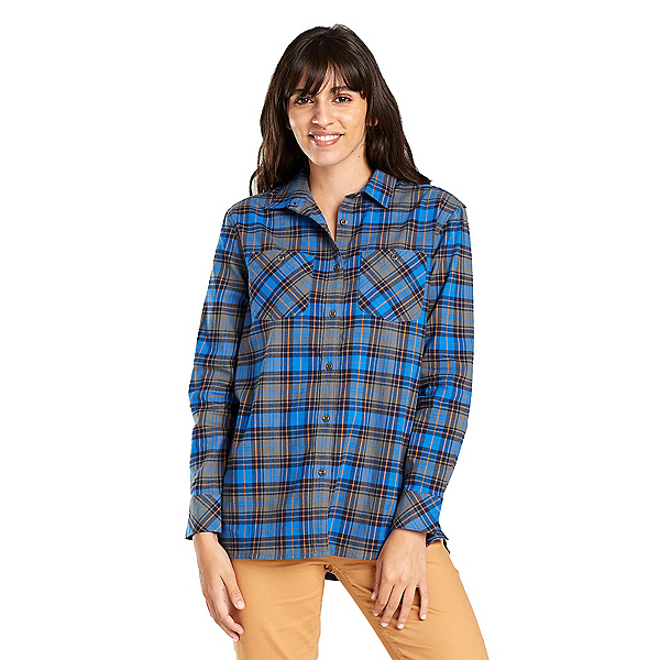 United By Blue Tomek Relaxed Plaid Womens Shirt, , 600