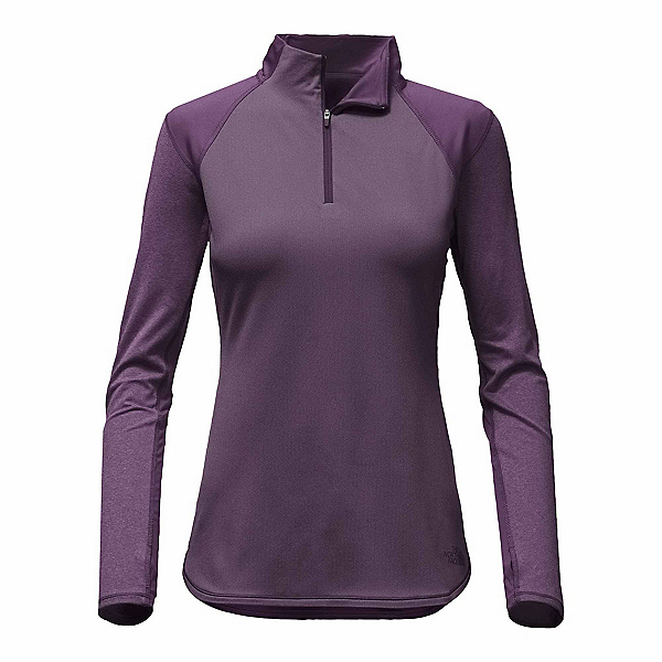 The North Face Motivation 1/4 Zip Womens Mid Layer, Dark Eggplant Purple, 600