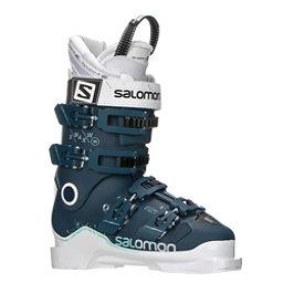 Salomon X-Max 90 W Womens Ski Boots 2018, Petrol Blue-White-Light Green, 256