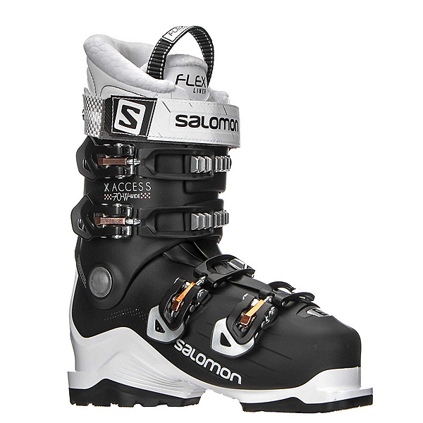 Salomon X-Access 70 W Wide Womens Ski Boots, White-Black-Corail, 600