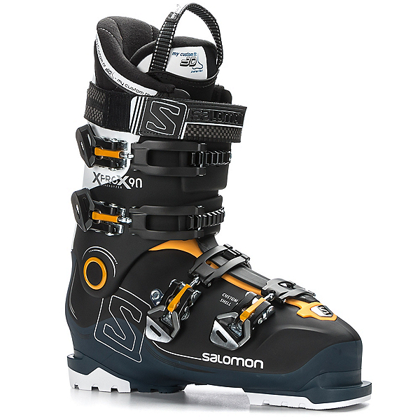 Salomon X-Pro X90 CS Ski Boots, Black-Petrol Blue-White, 600