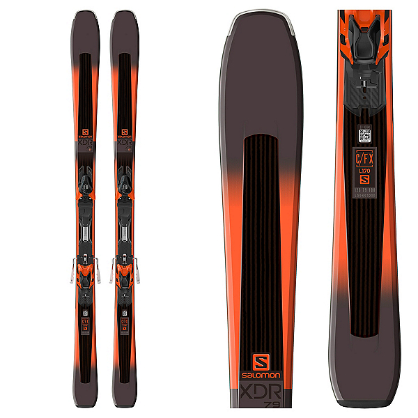 Salomon XDR 79 CF Skis with XT 10 Bindings 2018, , 600