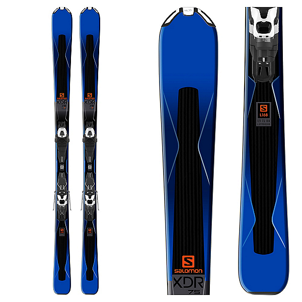 Salomon XDR 75 Skis with Lithium 10 Bindings 2018, , 600