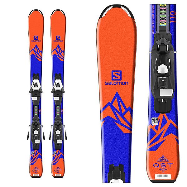 Salomon QST Max Jr. Kids Skis with C5 Ezytrak Bindings 2019, , 600