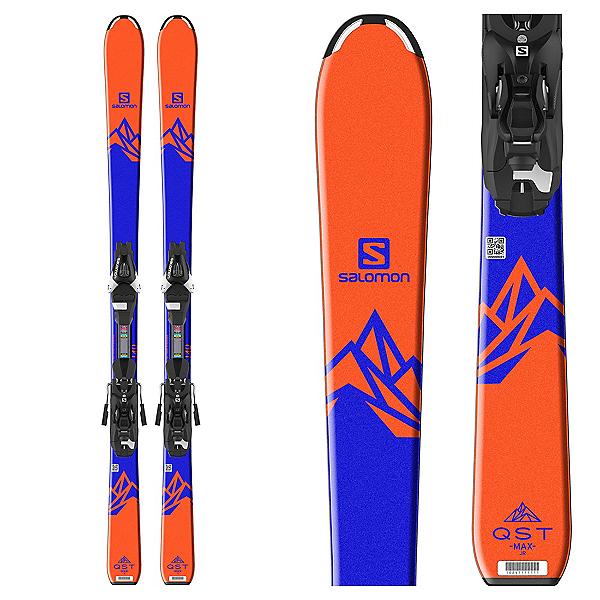 Salomon QST Max Jr. Kids Skis with L7 Ezytrak Bindings 2018, , 600