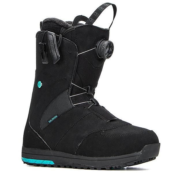 Salomon Ivy Boa STR8JKT Womens Snowboard Boots 2018, Black, 600