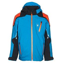 Spyder Speed Boys Ski Jacket, French Blue-Black-Burst, 256