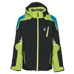 Spyder Speed Boys Ski Jacket, Black-Fresh-French Blue, 256