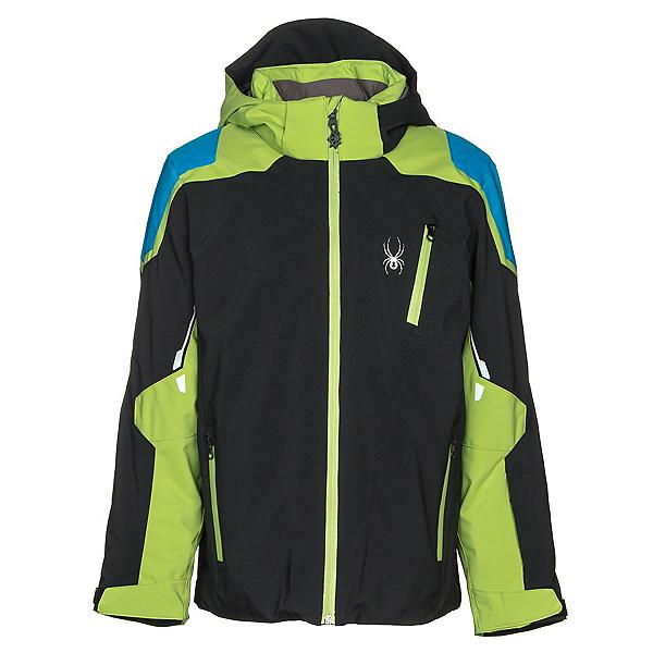 Spyder Speed Boys Ski Jacket, Black-Fresh-French Blue, 600