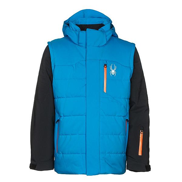Spyder Axis Boys Ski Jacket, French Blue-Black-Burst, 600