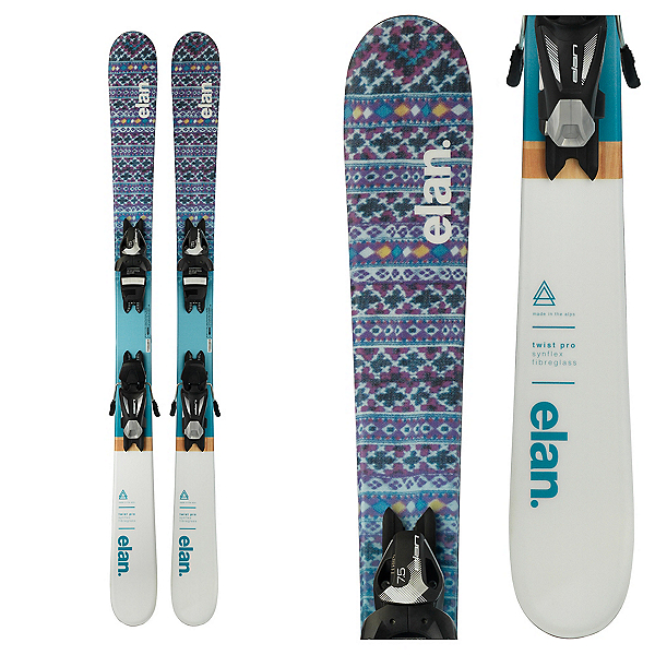 Elan Twist Pro Kids Skis with EL 7.5 Bindings, , 600