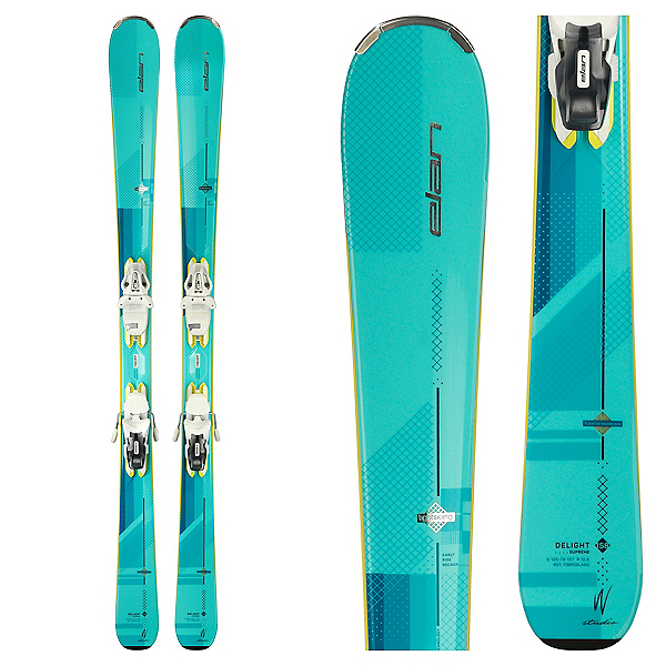Elan Delight Supreme Womens Skis with ELW 10.0 Bindings 2018, , 600
