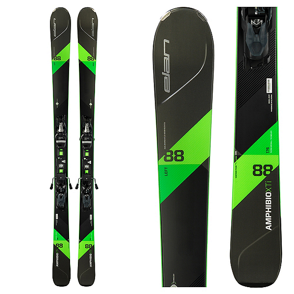 Elan Amphibio 88 XTi Skis with ELX Fusion 12.0 Bindings 2018, , 600