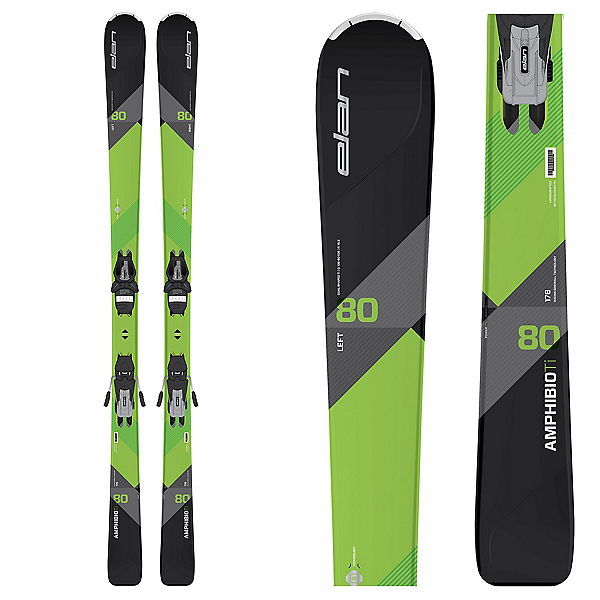 Elan Amphibio 80 Ti Skis with ELS 11.0 Bindings 2018, , 600