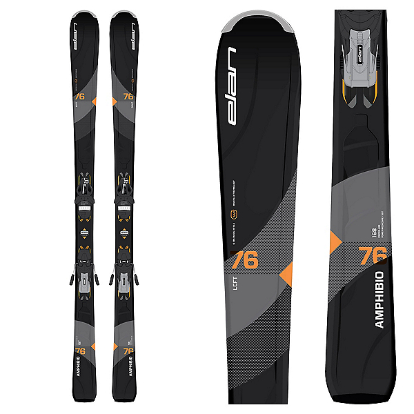 Elan Amphibio 76 Skis with EL 11.0 Bindings 2018, , 600