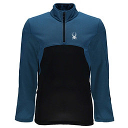 Spyder Capitol Fleece Half Zip Mens Mid Layer, French Blue-Black, 256