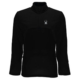 Spyder Capitol Fleece Half Zip Mens Mid Layer, Black-Black, 256