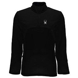 Spyder Capitol Fleece Half Zip Mens Mid Layer, Black-Black, 256