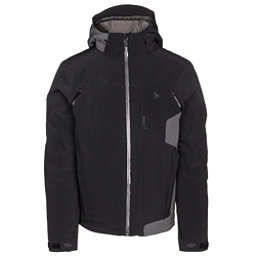 Spyder Alps Mens Insulated Ski Jacket, Black Carbon Emboss-Polar-Pola, 256
