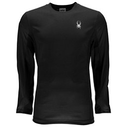 Spyder Alps Long Sleeve Tech Tee Mens Mid Layer, Black-Black, 256