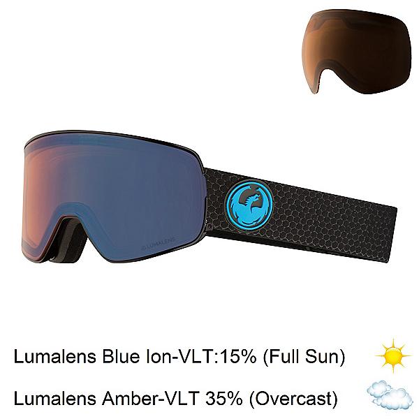 Dragon NFX2 Goggles 2019, Split-Lumalens Blue Ion + Bonus Lens, 600