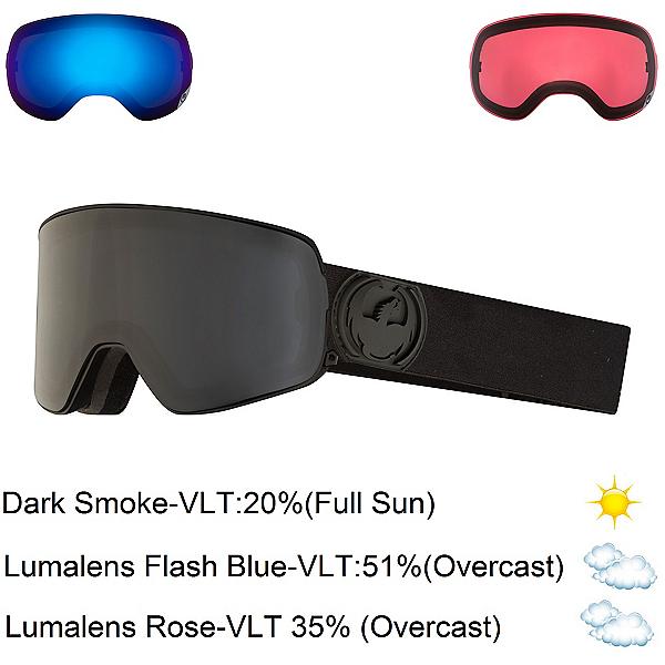 Dragon NFX2 Goggles, Knight Rider-Dark Smoke + Bonus Lens, 600