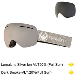 Dragon X1 S Goggles, Mill-Lumalens Silver Ion + Bonus Lens, 256