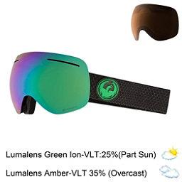 Dragon X1 Goggles 2018, Split-Lumalens Green Ion + Bonus Lens, 256