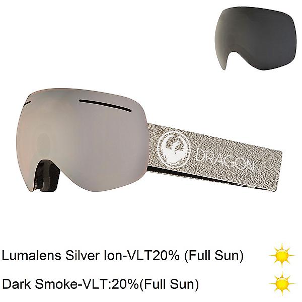 Dragon X1 Goggles, Mill-Lumalens Silver Ion + Bonus Lens, 600