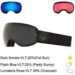 Dragon X2 S Goggles 2018, Knight Rider-Dark Smoke + Bonus Lens, 256