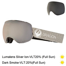 Dragon X2 Goggles 2018, Mill-Lumalens Silver Ion + Bonus Lens, 256