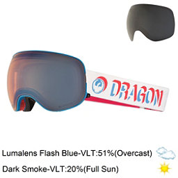 Dragon X2 Goggles 2018, Verge-Lumalens Flash Blue + Bonus Lens, 256